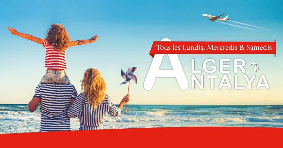 Vol direct trois fois par semaine entre Antalya et l'Algérie.