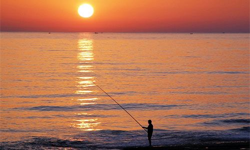 Sonnenuntergang in Antalya