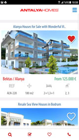 Antalya Homes Mobiele Applicatie
