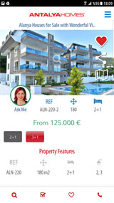 Antalya Homes mobile Anwendung