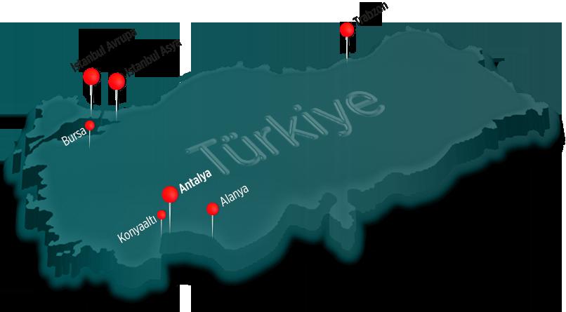Antalya Homes, Türkiye'nin pek çok noktasında hizmet vermektedir.