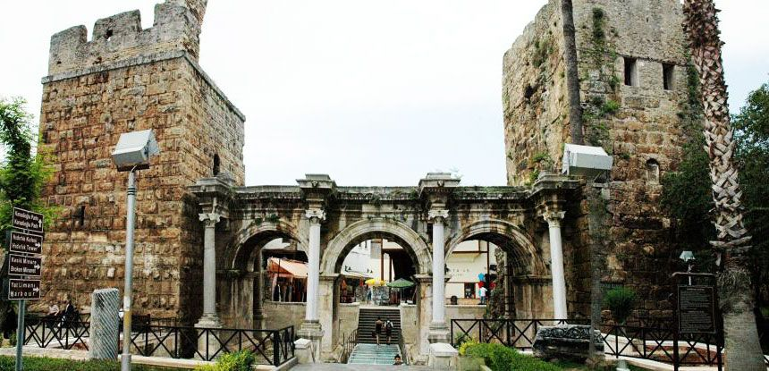 Hadrian's Gate in Antalya