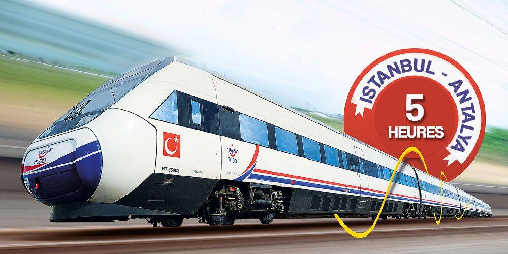 Le nouveau train à grande vitesse relie la Méditerranée à Marmara