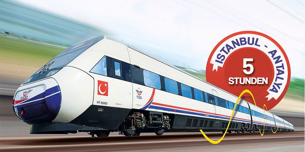 Der neue Hochgeschwindigkeitszug verbindet Mittelmeer mit Marmara