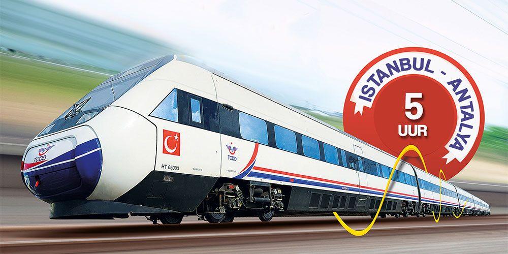 The High-Speed Train Connects Mediterranean to Marmara