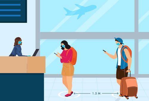 Maßnahmen, die beim Einsteigen in das Flugzeug zu ergreifen sind