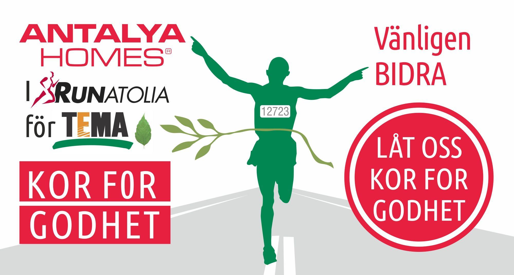 Antalya Homes gå med till stöd TEMA Stiftelsen i 13.Runatolia Maraton den 4 Mars. Låt oss gå med oss, våre skritt i forfølgelse av godhet blir enda sterkere.