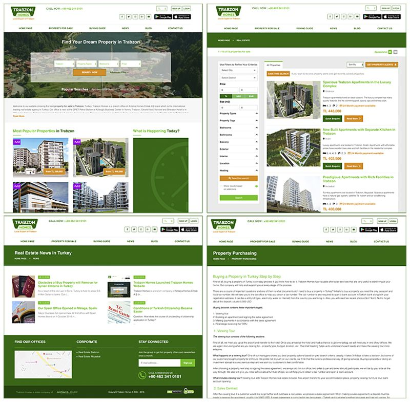 Trabzon Homes website