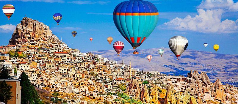 Каппадокия: запуск воздушных шаров