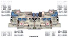 Wohnung Alanya mit Innen und Außen Pool, Immobilienplaene-3