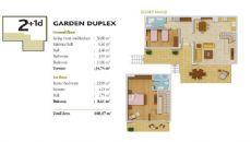 Konakli Appartementen in Alanya, Vloer Plannen-5