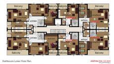 کلوپاترا سویت آپارتمان, پلان ملک-2