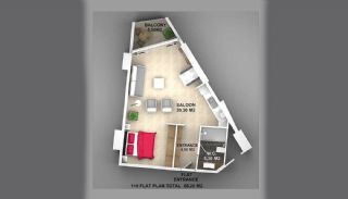 Unique Flats with Panoramic Sea View in Alanya Kargicak, Property Plans-2