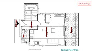 Spacious Villas with Private Garden in Alanya Konakli, Property Plans-4