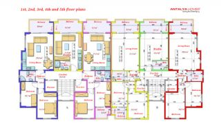 Luxurious Apartments Close to the Sea in Avsallar Alanya, Property Plans-6