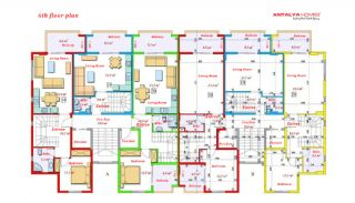 Luxurious Apartments Close to the Sea in Avsallar Alanya, Property Plans-7