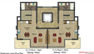 Alanya City Wohnungen, Immobilienplaene-2