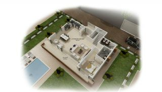Panoramic Sea and Castle View Villas in Alanya Kargicak, Property Plans-1