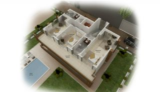 Panoramic Sea and Castle View Villas in Alanya Kargicak, Property Plans-2