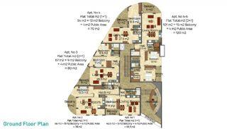 Апартаменты Оба Бич, Планировка -2