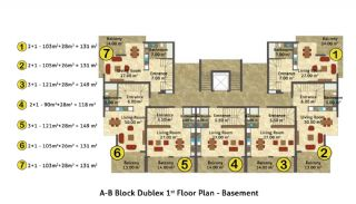 Kestel Seaside Apartments, Property Plans-1