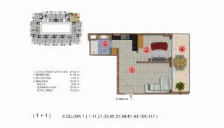 Calista Premium Residence, Kat Planları-2