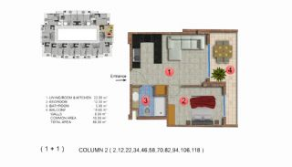 Modernly Designed Seafront Apartments in Alanya Mahmutlar, Property Plans-3