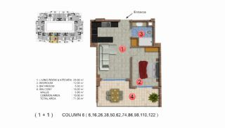 Modernly Designed Seafront Apartments in Alanya Mahmutlar, Property Plans-7