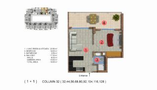 Modernly Designed Seafront Apartments in Alanya Mahmutlar, Property Plans-13