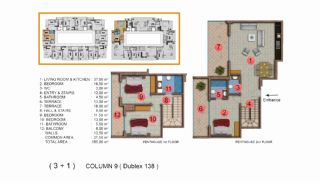 Modernly Designed Seafront Apartments in Alanya Mahmutlar, Property Plans-20