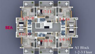 Seafront Alanya Apartments with Rich Social Facilities, Property Plans-2