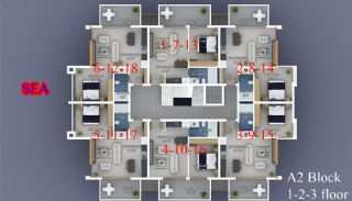 Seafront Alanya Apartments with Rich Social Facilities, Property Plans-5
