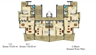 Modern Designed Apartments Close to the Beach in Alanya, Property Plans-7