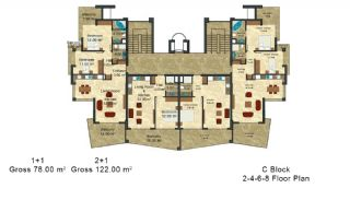 Modern Designed Apartments Close to the Beach in Alanya, Property Plans-9