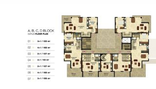 Privileged Apartments in a Luxurious Complex in Alanya, Property Plans-3
