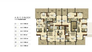 Privileged Apartments in a Luxurious Complex in Alanya, Property Plans-4