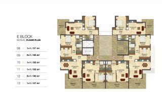 Privileged Apartments in a Luxurious Complex in Alanya, Property Plans-5