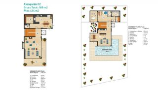 Sea View Detached Villas in Alanya, Property Plans-2