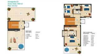 Sea View Detached Villas in Alanya, Property Plans-3