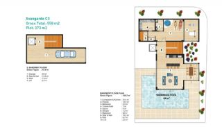 Sea View Detached Villas in Alanya, Property Plans-4