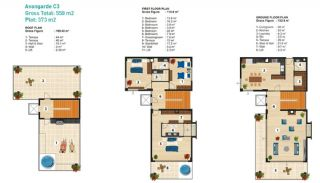 Sea View Detached Villas in Alanya, Property Plans-5