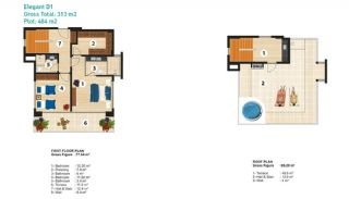Sea View Detached Villas in Alanya, Property Plans-6