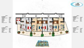 Sea View Apartments in Alanya for Sale, Property Plans-9