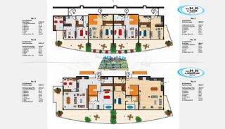 Sea View Apartments in Alanya for Sale, Property Plans-14