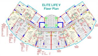 Nya Lägenheter till Salu i Mahmutlar, Alanya, Planritningar-1