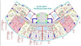 Nya Lägenheter till Salu i Mahmutlar, Alanya, Planritningar-2