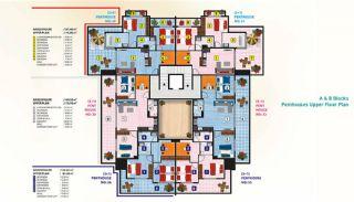 Luxus Alanya Wohnungen zum Verkauf, Immobilienplaene-4