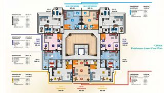 Luxury Alanya Apartments for Sale, Property Plans-6