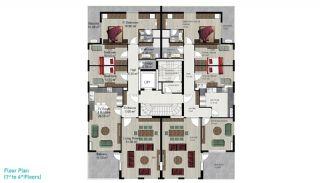 Квартира с 4 Спальнями в Алании, Планировка -2
