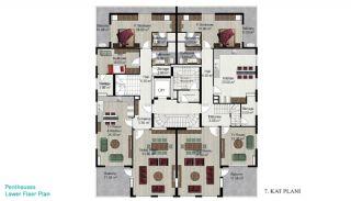 Квартира с 4 Спальнями в Алании, Планировка -3